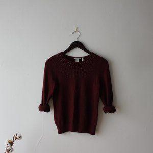 Angora Burgundy sweater